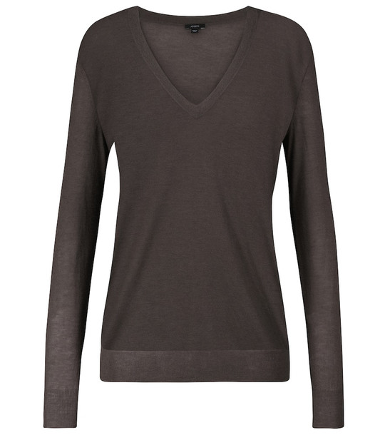 JOSEPH Cashair cashmere sweater in brown