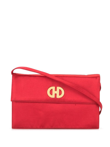 Céline Pre-Owned pre-owned logo plaque shoulder bag in red