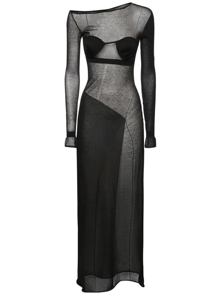 NENSI DOJAKA Light Knit Long Dress in black