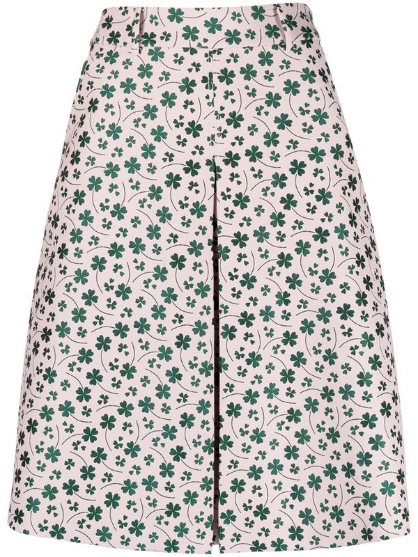Boutique Moschino floral print A-line skirt in pink