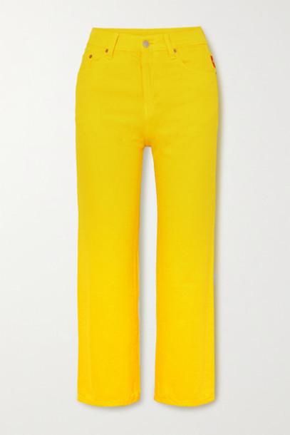 Denimist - Pierce Cropped High-rise Straight-leg Jeans - Yellow