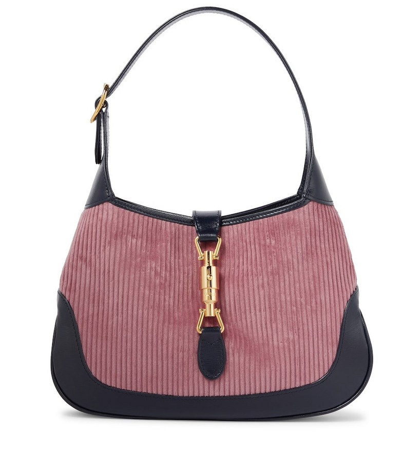 Gucci Jackie 1961 Small corduroy shoulder bag in pink