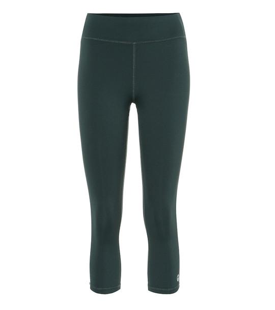Tory Sport Cropped leggings in green