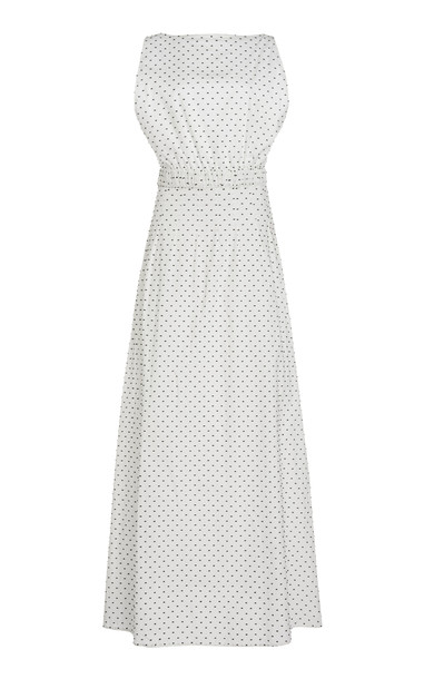 Matin Shoestring Low Back Dress Long in white
