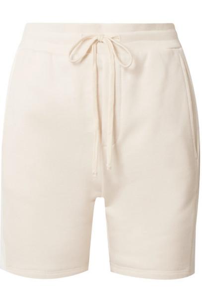 TWENTY Montréal - Pride Satin-trimmed French Cotton-blend Terry Shorts - Cream