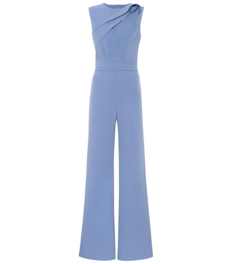 Safiyaa Kayo stretch-crêpe jumpsuit in blue