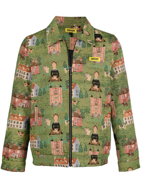 Chinatown Market woven tapestry jacket in green