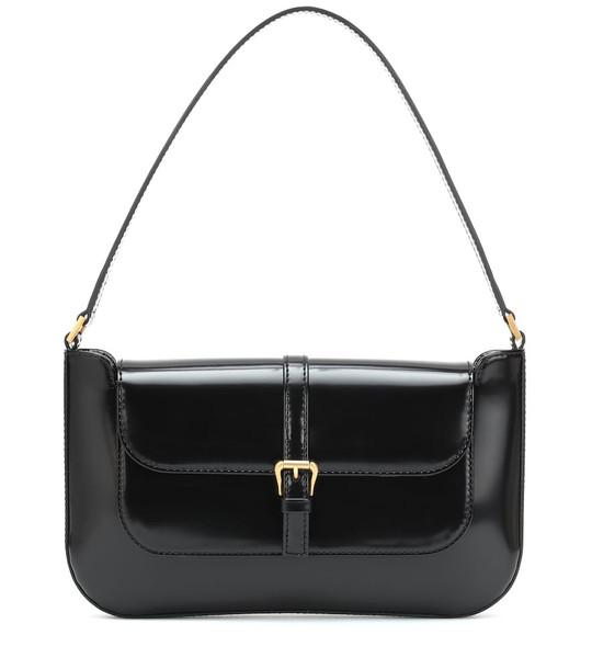 By Far Miranda patent leather shoulder bag in black