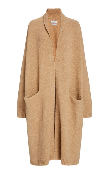 Deveaux Cassie Wool-Blend Cardigan in brown