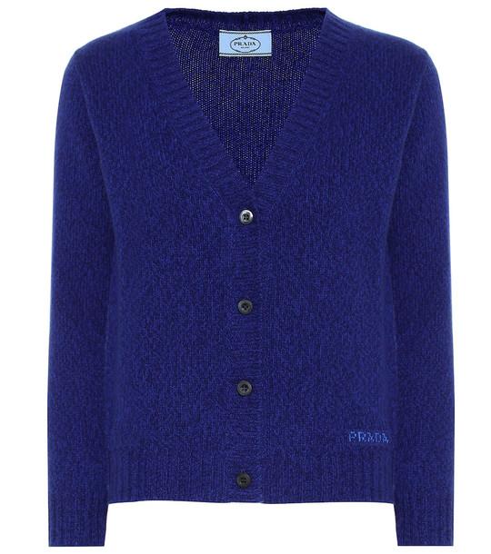 Prada Wool and cashmere cardigan in blue