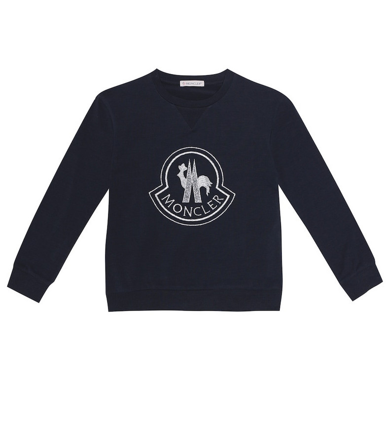 Moncler Enfant Stretch-cotton top in black