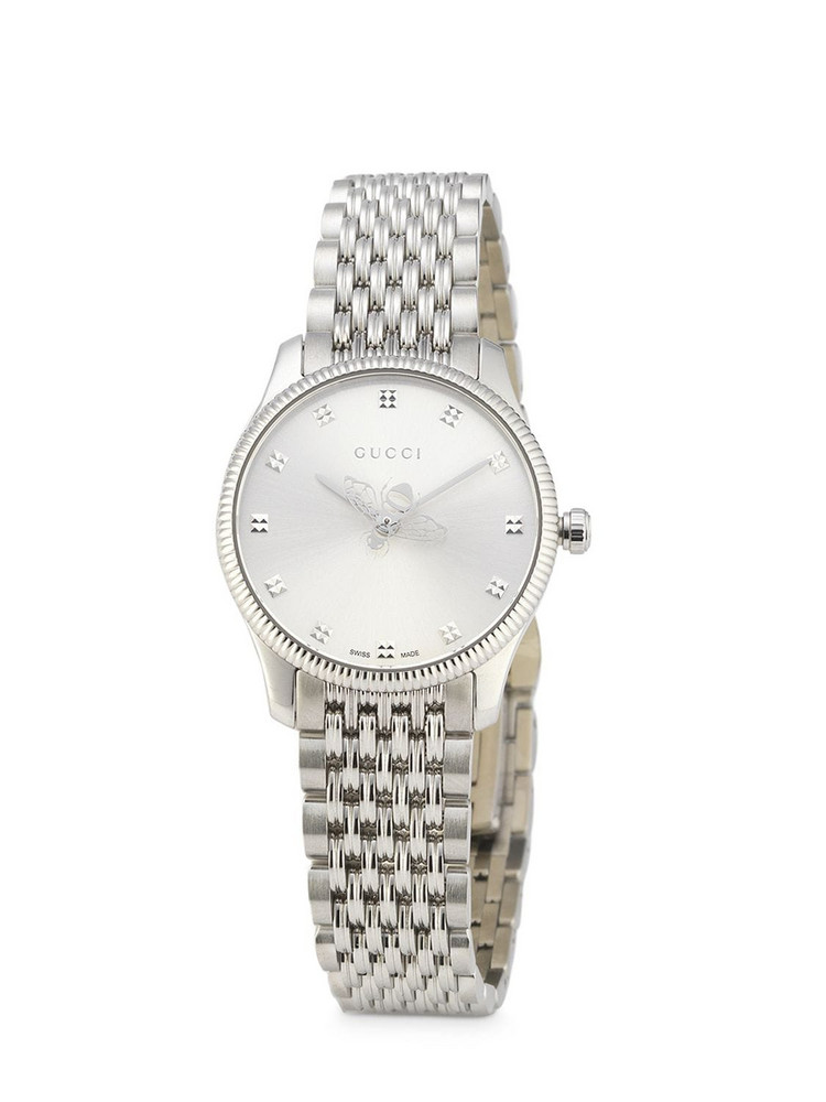 GUCCI 29 Mm G-timeless Slim Watch in silver