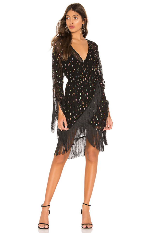 Michael Costello x REVOLVE Naia Dress in black