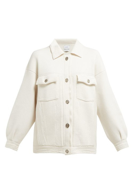 Barrie - Oversized Knitted Cashmere Blend Jacket - Womens - Ivory
