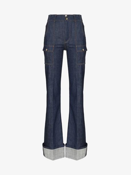 Chloé Chloé flared skinny jeans in blue