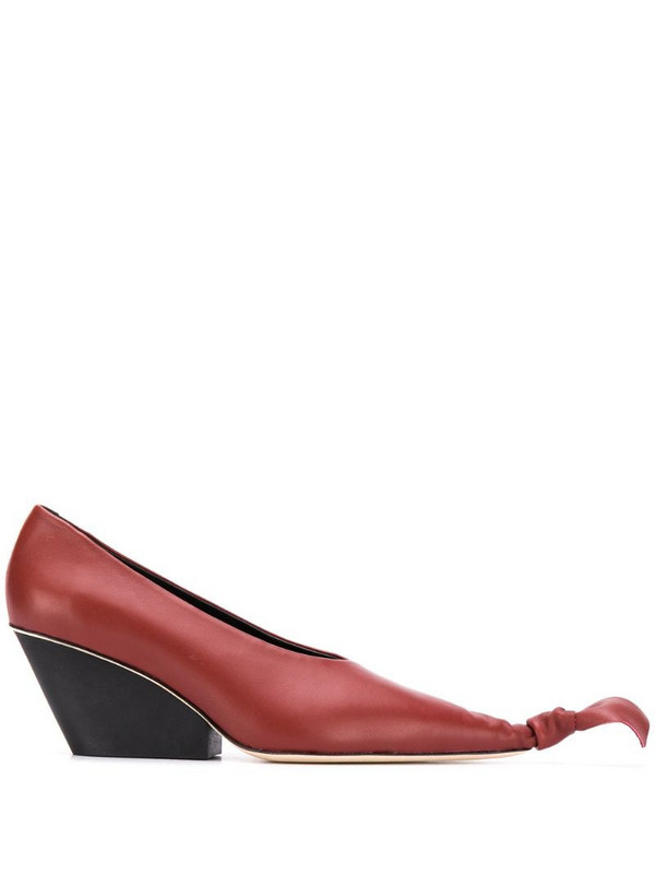 CamperLab Juanita knotted toe pumps in brown