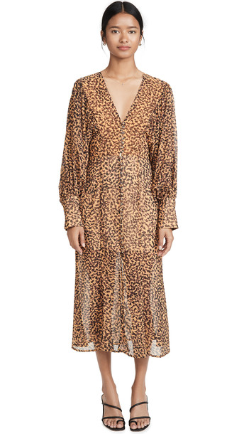 C/Meo Collective Apparent Long Sleeve Dress in mustard