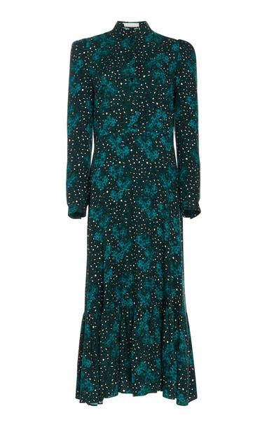 Borgo De Nor Rafaela Heavy Crepe Maxi Dress in print