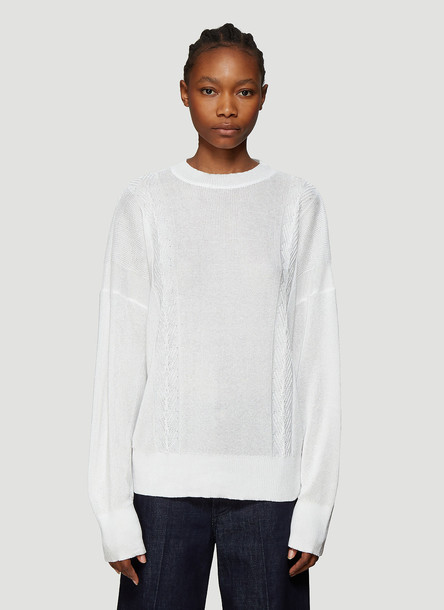 Our Legacy Cable Knit Sweater in White size EU - 48