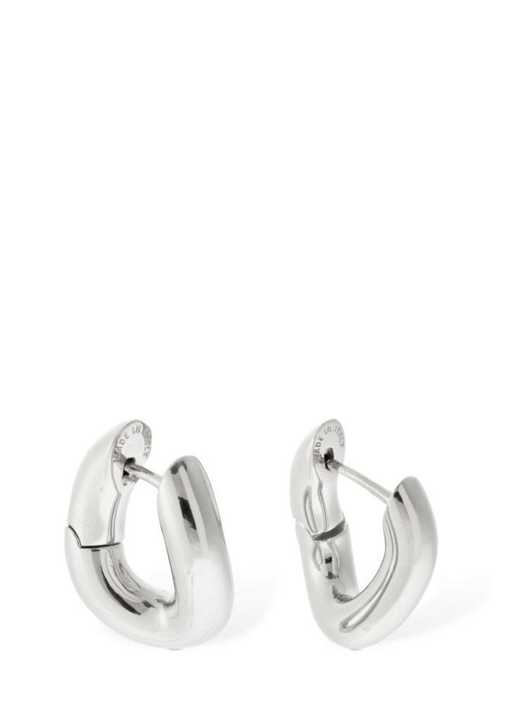 BALENCIAGA Twisted Loop Xxs Earrings in silver