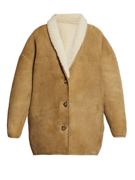 Isabel Marant Étoile - Carman Reversible Shearling Coat - Womens - Beige