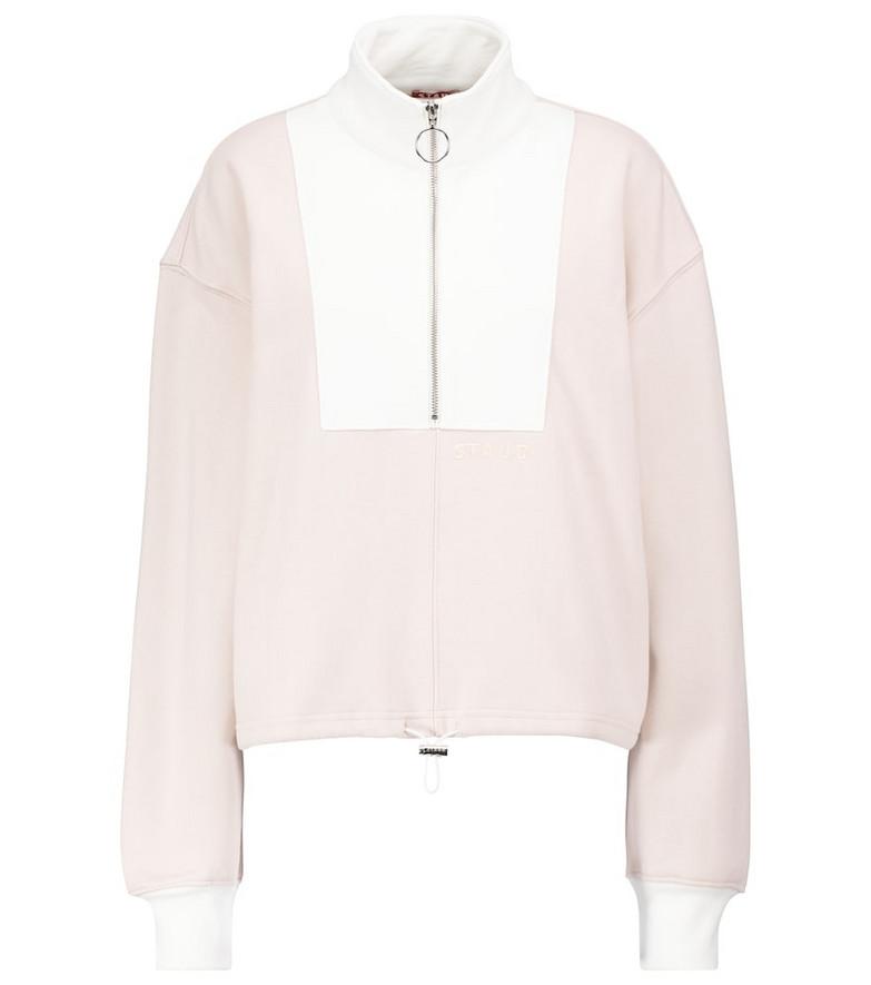 Staud Alys colorblocked cotton sweatshirt