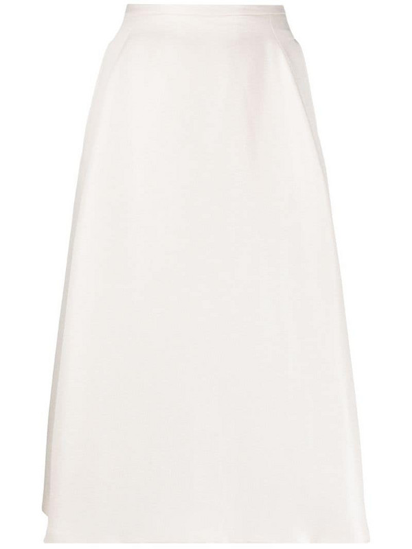 Jil Sander Pre-Owned 2000s high-waist A-line skirt in white