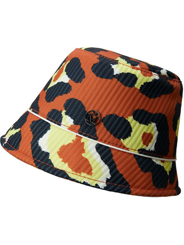 Maison Michel Souna leopard-print bob hat in orange