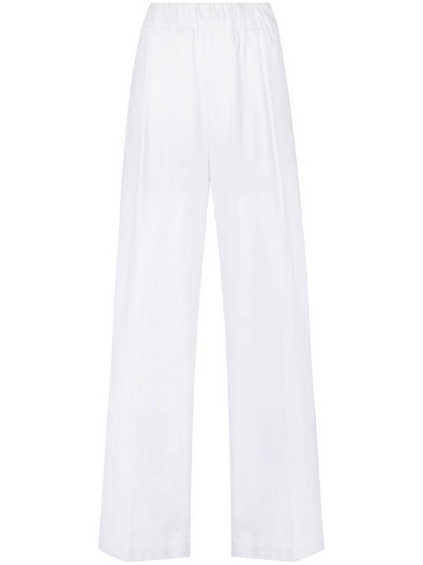 Jejia high-waisted wide leg trousers in white