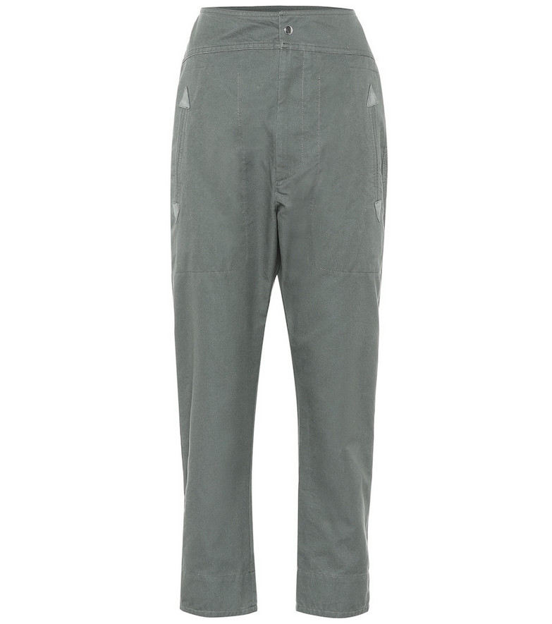 Isabel Marant, Étoile Raluniae high-rise cotton pants in grey