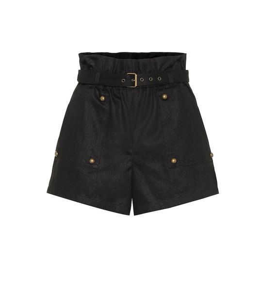 Saint Laurent Cotton-blend shorts in black