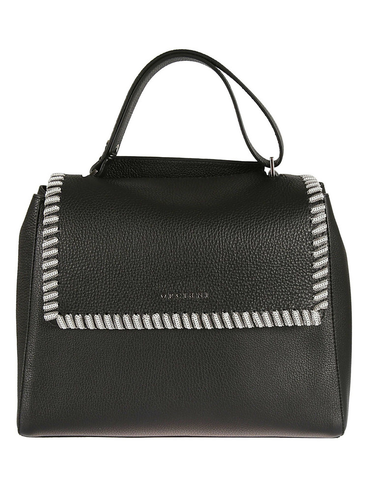 Orciani Chain Embellished Tote in nero