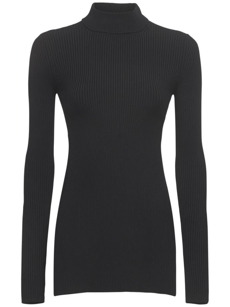 SPORTMAX Lisetta Open Back Ribbed Sweater in black