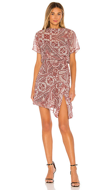 ALLSAINTS Giulia Scarf Dress in Red