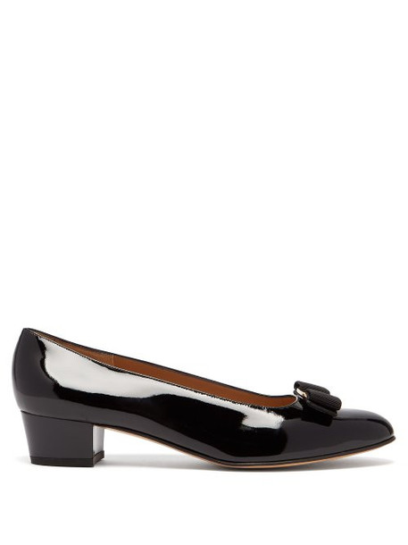 Salvatore Ferragamo - Vara Black Patent Leather Pumps - Womens - Black