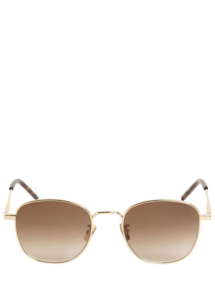 SAINT LAURENT Sl 299 Round Metal Sunglasses in gold