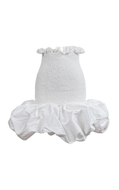 By Efrain Mogollon Bonita Tafeta Skirt in white