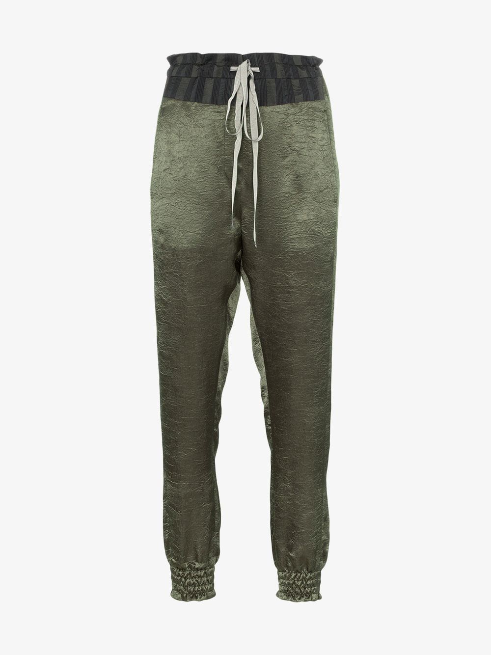 Ann Demeulemeester high-waisted drawstring trousers in green