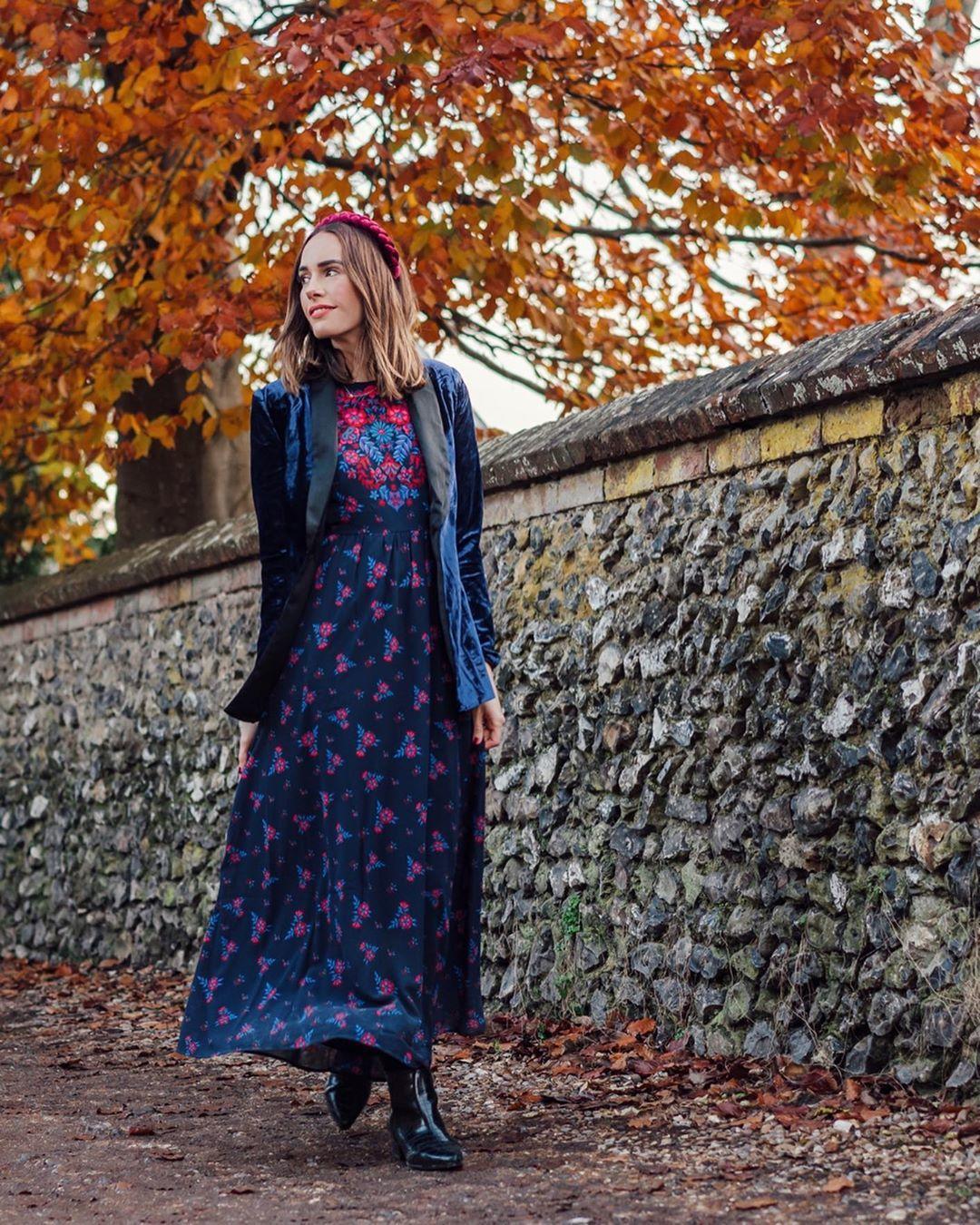 dress maxi dress floral dress patent boots vinyl blazer
