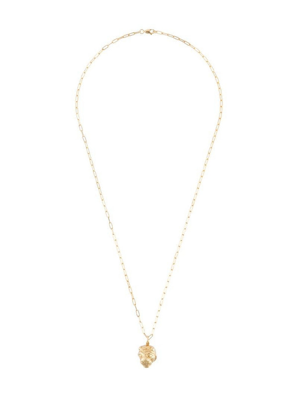 VICTORIA STRIGINI Lions Head oblong-chain necklace in gold