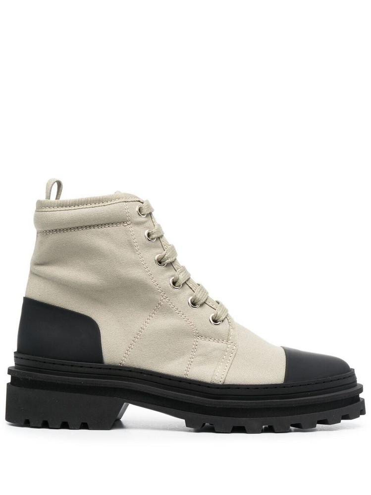 A.P.C. A.P.C. Faustine colour-block combat boots - Green