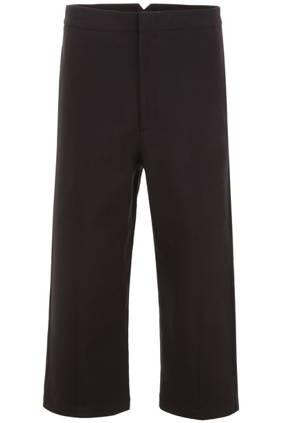 Jil Sander Cropped Trousers in black