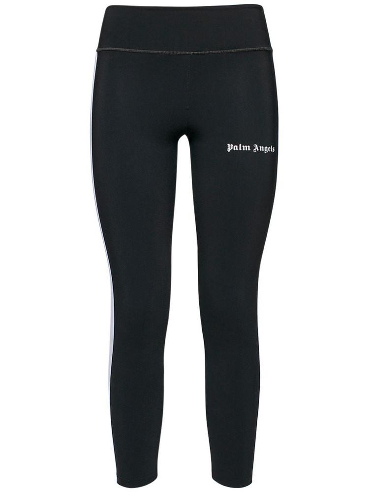PALM ANGELS Logo Stretch Jersey Leggings in black