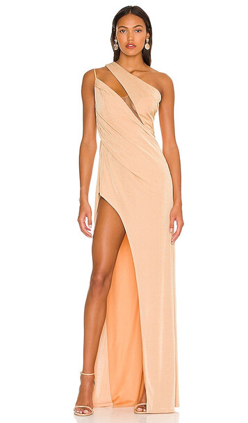 Katie May x REVOLVE A Cut Above Gown in Nude