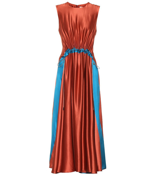 Roksanda Silk-crêpe dress in red