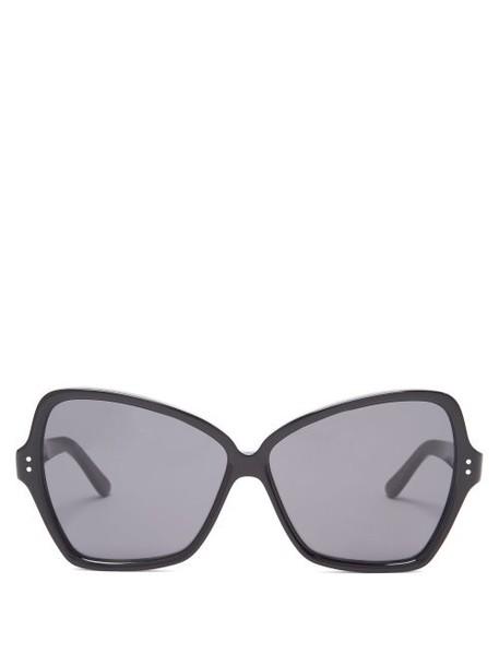 Celine Eyewear - Butterfly Large Acetate Sunglasses - Womens - Black
