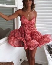 dress,red dress,boho dress,floral dress,red floral dress,boho,red boho dress,floral
