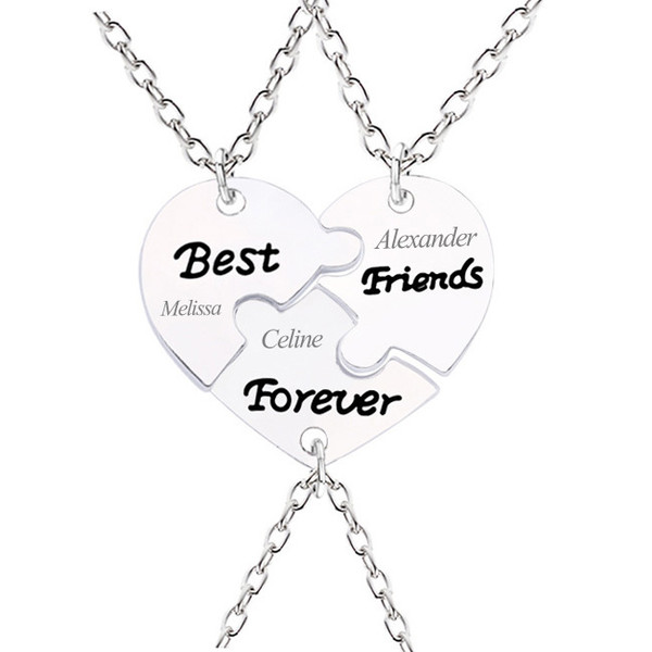 jewels necklace gullei gullei.com bff bff necklaces friendship necklaces engraved necklaces name necklaces personalized necklaces best friends jewelry best friends forever necklaces