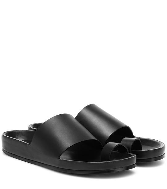 Jil Sander Leather slides in black