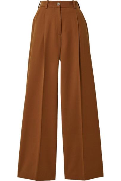 Racil - Twill Wide-leg Pants - Brown